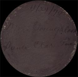 Artist Signature - Mela Tafoya Youngblood, Mistletoe Yellow, Santa Clara Pueblo Potter