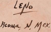 Artist Signature - Juana Leno, Acoma Pueblo Potter