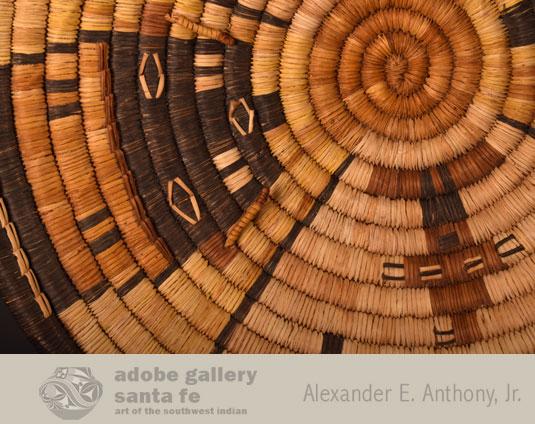 Close up view of this Hopi Basket.