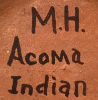 Artist Hallmark signature - Mary Histia, Acoma Pueblo Potter