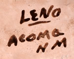 Artist Siganture - Juana Leno, Syo-ee-mee Turquoise, Acoma Pueblo Potter