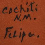 Artist Signature - Felipa Trujillo , Cochiti Pueblo Potter