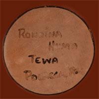 Artist Signature - Rondina Huma, Hopi Pueblo Potter