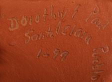 Artist's Signature - Paul Gutierrez and Dorothy Gutierrez, Santa Clara Pueblo Potters