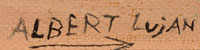 Artist Signature with Hallmark - Albert Lujan, Taos Pueblo Painter