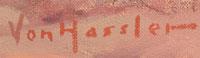 Carl Von Hassler (1887-1969) signature