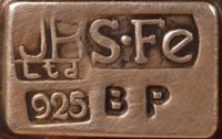 This tray is stamped with a label that states JB Ltd S Fe .925 BP.
