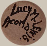 Artist Signature - Lucy Martin Lewis, Acoma Pueblo Potter