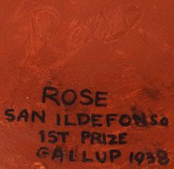 Artist Signature - Rose Cata Gonzales, San Ildefonso Pueblo Potter