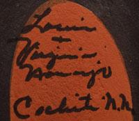 Artists' Signatures - Louis and Virginia Naranjo, Cochiti Pueblo Potters