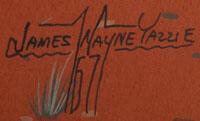 Artist signature - James Wayne Yazzie (1943-1969) Navajo