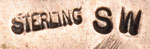 Acoma silversmith Selina Werner signature - hallmark.