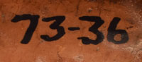 OLD Acquisition or Inventory number that is on bottom of jar.