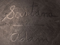 Artist Signatures - Santana and Adam Martinez, San Ildefonso Pueblo Potters