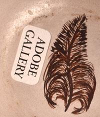 Artist Hallmark Feather Signature - Helen Naha - Feather Woman, Hopi-Tewa Potter
