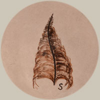Artist Hallmark Signature - Sylvia Naha (1951–1999) Feather Woman
