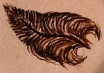Hallmark feather symbol signature - Helen Naha Feather Woman Hopi-Tewa Potter