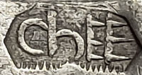 Artist hallmark stamp [chEE] Mark Chee, Diné Silversmith