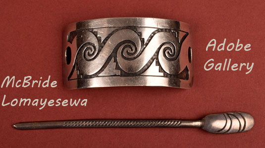 Alternate view of this silver hair clasp.