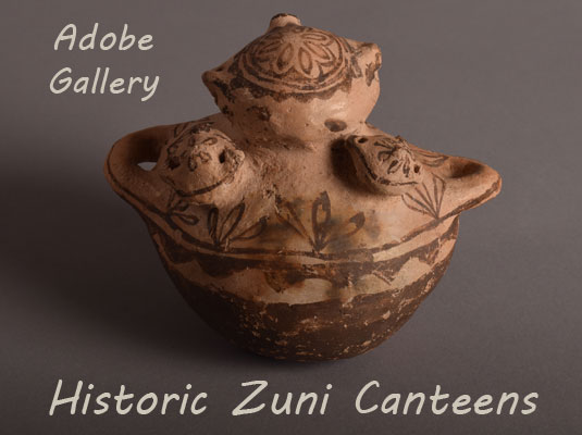 Alternate side view of this amazing Zuni pottery vessel.