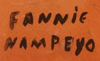 Artist Signature - Fannie Nampeyo, Hopi-Tewa Potter
