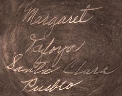 Santa Clara Pueblo artist signature - Margaret Tafoya - Maria Margarita Tafoya - Corn Blossom