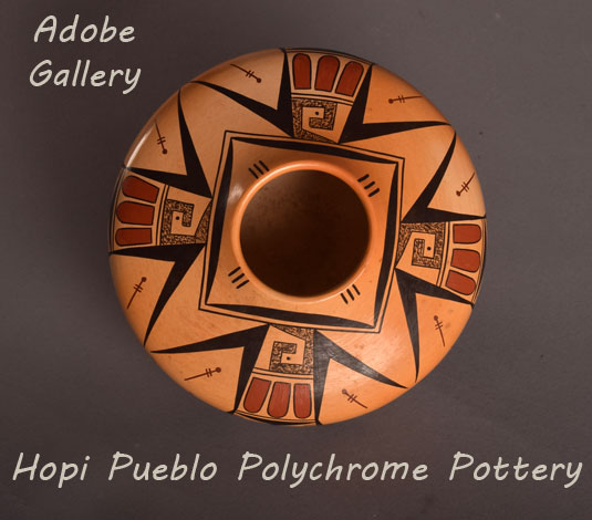 Alternate view of the top of this amazing Hopi seed jar.