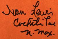 Artist Signature - Ivan Lewis, Cochiti Pueblo Potter