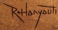 Artist Signature - Ronald Honyouti, Hopi Pueblo Carver
