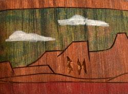 Artist Initials - hallmark for Brian Honyouti, Hopi Katsina Carver