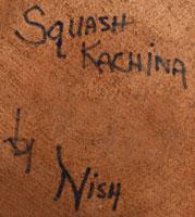 Artist Signature - Garfield Nish, Hopi Pueblo Carver