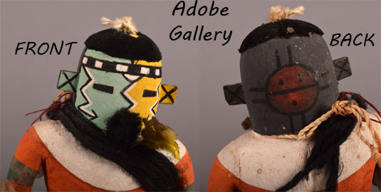 Alternate views of the mask FRONT and the BACK.