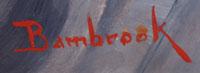 Walter Bambrook, Western Artist signature