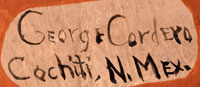 Artist Signature - George Cordero Cochiti Pueblo Potter