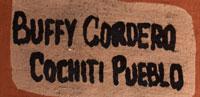 Artist Signature - Buffy Cordero Suina, Cochiti Pueblo Potter