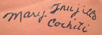 Artist Signature - Mary Trujillo, Cochiti Pueblo Potter