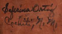 Artist Signature - Seferina Ortiz, Cochiti Pueblo Potter