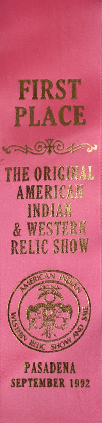 MALE awarded First Place at The Original American Indian & Western Relic Show in Pasadena in 1992.