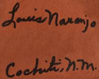 Artist Signature - Louis Naranjo, Cochiti Pueblo Potter
