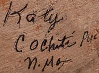 Artist Signature - Catherine (Katy) Aguilar Trujillo, Cochiti Pueblo Potter