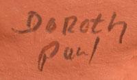 Artist' signatures - Paul & Dorothy Gutierrez, Santa Clara Pueblo Potters