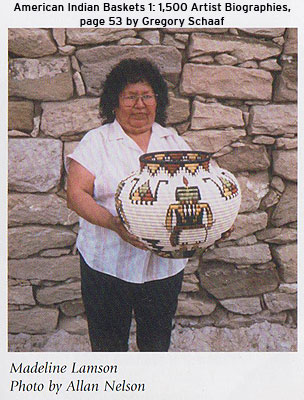 Reference: This basket is pictured on page 53 of Gregory Schaaf's American Indian Baskets 1: 1,500 Artist Biographies.  Photo by Allan Nelson.
