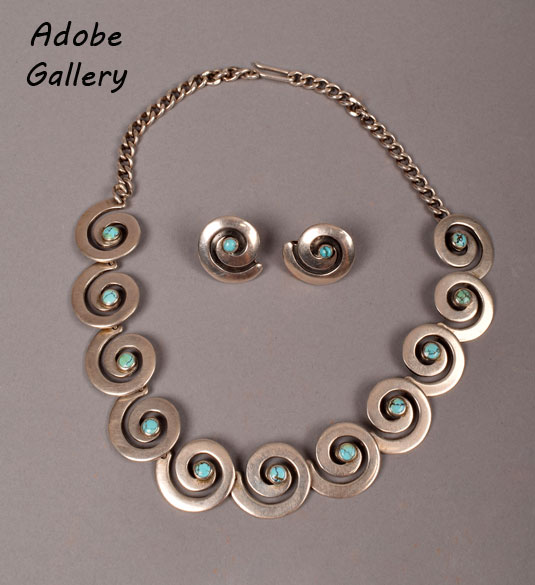 A photo of the earrings (Item #C4413C) appears with this necklace, just for comparison.