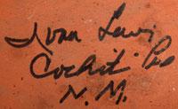 Artist Signature - Ivan Lewis, Cochiti Pueblo Artist