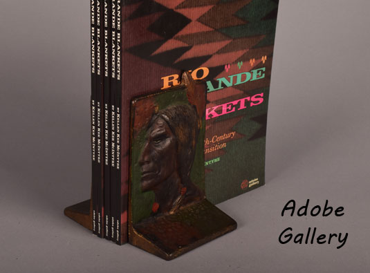 Bookends shown with Rio Grande Blankets book.