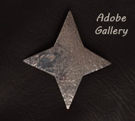 Item # C4425F Hand Hammered Sterling Silver Four-Pointed Star Pin by Jan Loco