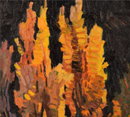 "Original Painting titled ""Poplar Sunset"" by Robert Daughters"
