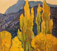 """Original Painting titled """"Poplar Gold"""" by Robert Daughters"""
