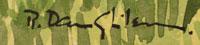 Robert Daughters (1929-2013) artist signature.