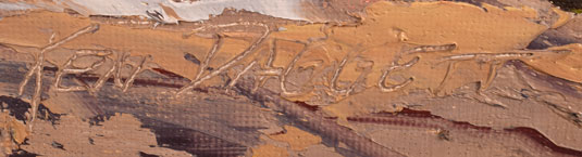 Ken Daggett, Western Artist signature